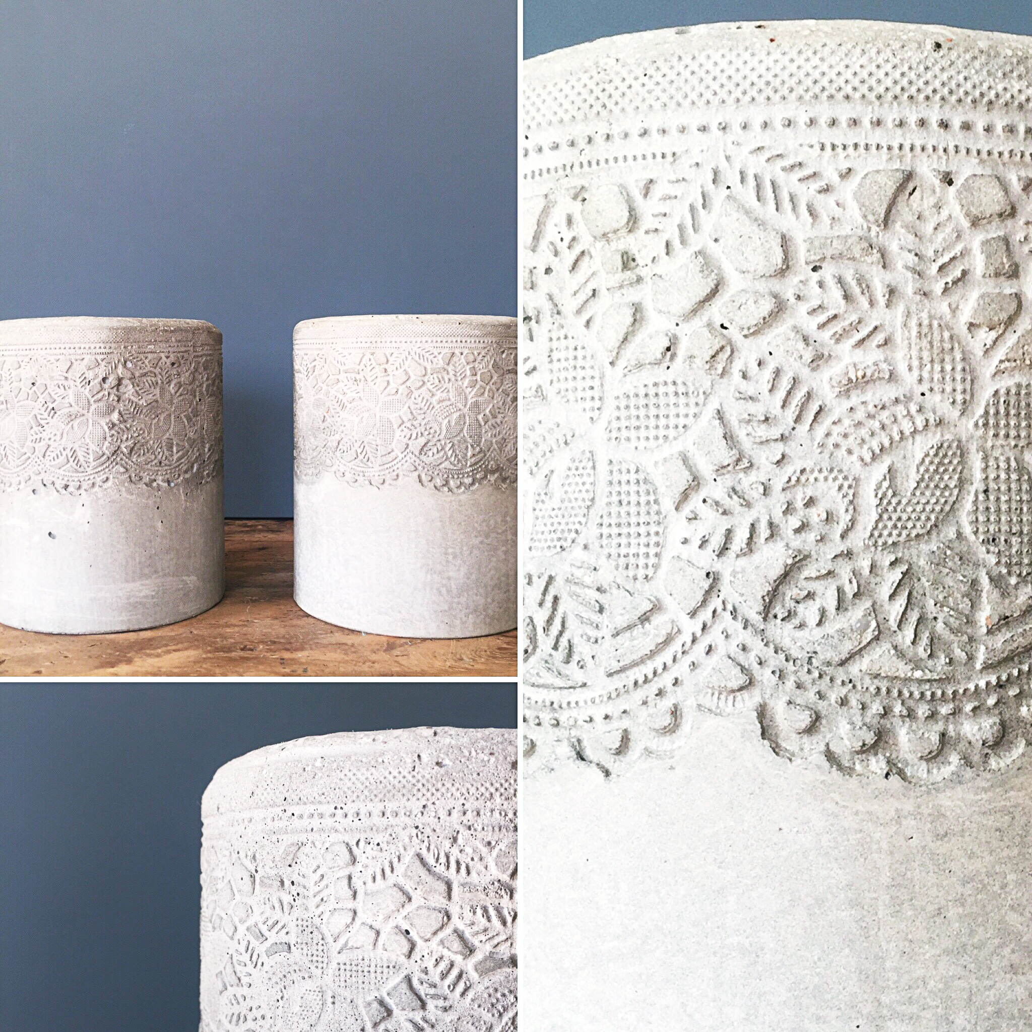 LACE CYLINDER candle holder